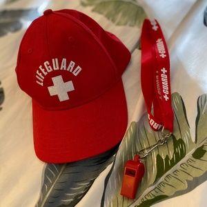 LIFEGUARD CAP & WHISTLE